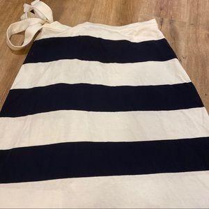J. Crew Skirts - J.Crew Black & White Striped Wrap Skirt Medium NWT
